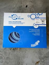 Pool Style Deluxe Swimming Pool Vacuum Hose Swivel Cuff 1-1/4andrdquoinch 36ft