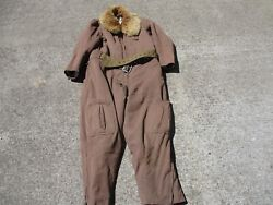 Original Wwii Japanese Electrically Heated Fur Lined Flight Suit