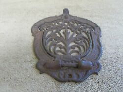 Vintage Cast Iron Mail Box Door Wall Mount Ornate Parts Architectural Salvage