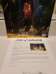 Autographed Acdc 8x10 Concert Photo By 4.....psa Full Letter