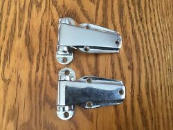 Abi Refrigerator Door Hinges Chrome Over Brass 2068ch New Old Stock A