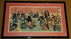 Three Piece Japanese Woodblock Print Of Haiyo Four Hundred And Four Diseases