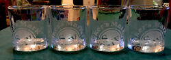 Makers Mark Bourbon Whiskey Kentucky Etched Rocks Glasses Barwear Set Of Four-4