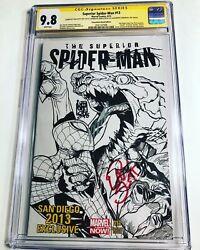 Cgc Ss 9.8 Superior Spider-man 13 Variant Signed By Slott, Camuncoli And Ramos