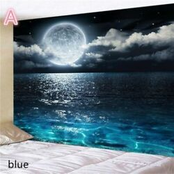 USA Sea Moon Night Tapestry Wall Hanging Tapestries Bedroom Blankets Room Decor
