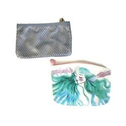 Ipsy Makeup Cosmetic Bags Set Of 2 Travel Clutch Perforated Mermaid Zip $14.69