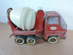 Vintage Steel And Plastic Tonka Gas Diesel Concrete Cement Mixer Truck As Is
