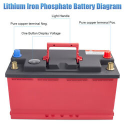 12v Lithium Battery 100ah Lifepo4 Solar Rv Boat Deep Cycle Agm Replacement