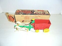 Hardy Old Plastic Circus Wagon Toy With Horses Mib