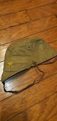 Ww2 Imperial Japanese Army Military Em Nco And039s Wool Uniform Hat Cap W/ Star