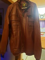 3xl Live Mechanics Premium Leather Jacket. Save Big Over New Great Condition