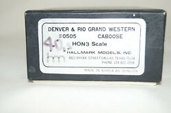 Hon3 Brass Hallmark Dandrgw Caboose 0505, Professionaly Painted