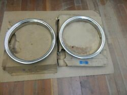 Nos 1988-2002 Chevrolet-gmc Truck-van And Cadillac 16 Trim Ring Pair 2