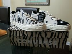 Converse Brain Dead One Star New 163167C Black Cheetah Polka Dot Zebra Size 10 $100.00
