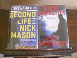 Second Life Of Nick Mason And Exit Strategy Steve Hamilton Signed 1st Prints Hc