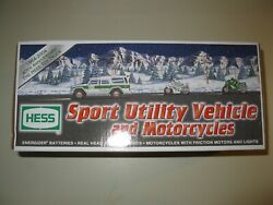 Hess Toy Truck 2004 Sport Utility With Motorcycles 40th Anniversary