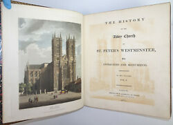 Rudolph Ackermann Combe History Church St Peters Westminster Abbey 1st/1st 1812