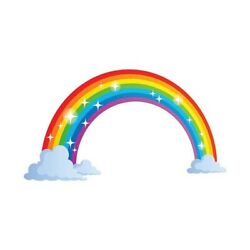 1pc Rainbow Sticker Removable Self Adhesive Sticker for Family Home Decor