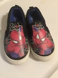 Spiderman Boys Size 8 Shoes Preowned