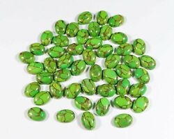 Natural Green Copper Turquoise 3x5 Mm To 18x25 Mm Oval Cabochon Loose Gemstone