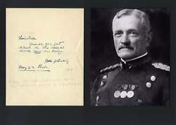 John J. Pershing Ww I Autograph, Handwritten Note Signed And Mounted