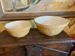 Vintage Antique English Pottery Mixing Bowls Two T G Green And Co The Gripstand