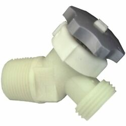 Lasco 40-0911 Plastic Water Heater Drain Valve With 5/8-inch Shank 3/4-inch Male