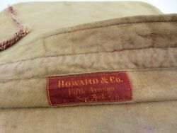 Large Howard And Co Anti Tarnish Mohair Hollowware Storage Pouch Bag 11 X 12 1/4