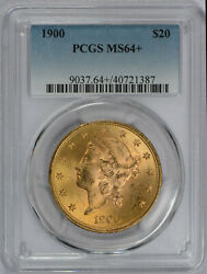 1900 20 Liberty Gold Double Eagle Ms-64+ Pcgs Plus Graded