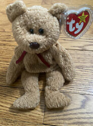 Rare Retired Ty Beanie Baby And039curlyand039 The Bear Many Errors Mint Condition