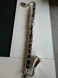 Bass Clarinet Low C Pro Level Easy Blowing Great236 With Silver Plated Keys