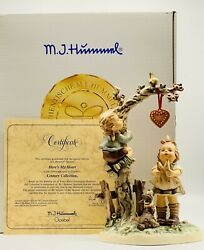 Hummel Hereandrsquos My Heart Hum 766 Century Collection 1998 New In Box With Coa