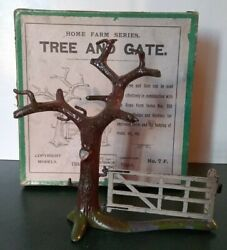 Britains Tree And Gate, Scarce Antique In Orginal Box No. 7 F, 1910 Great Cond.