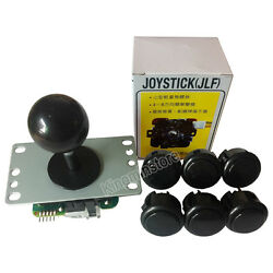 Original Sanwa Jlf-tp-8yt Joystick With 6 Obsf-30 Buttons For Arcade Mame Game