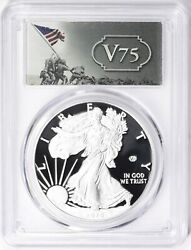 2020-w 1 Proof Silver Eagle V75 Privy Pcgs Pr70dcam First Day Of Issue.... Rare