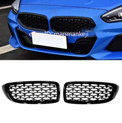 2x For Bmw 4 Series F32 F33 F36 2014-2018 Black Diamond Star Front Grille Grill