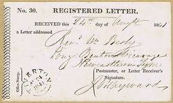 1841 Registered Letter Receipt - A Very Early Example Tiverton - Newcastle