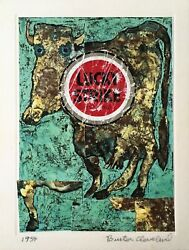 Buster Cleveland. Original Signed Collage Andldquodiabolique.andrdquo Not Dated [1990].andnbsp