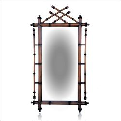 Monumental Statement French Style Faux Bamboo Mirror 44 X 3 X 86 Chippendale
