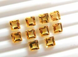 Perfect Natural Citrine 3mm To 15mm Square Faceted Cut Loose Gemstone