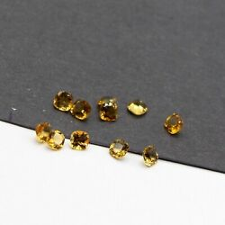 Perfect Natural Citrine 5mm To 15mm Cushion Faceted Cut Loose Gemstone