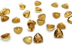 Perfect Natural Citrine 5mm To 15mm Trillion Faceted Cut Loose Gemstone