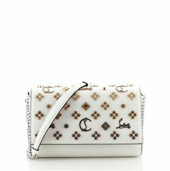 Christian Louboutin Paloma Clutch Embellished Leather Small