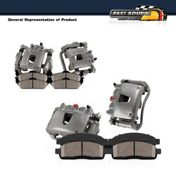 For 1999 2000 Bmw 323ci 323i E46 Front + Rear Oe Brake Calipers + Ceramic Pads