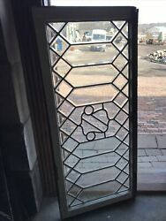 3599 Antique All Beveled Glass Window 21.5 X 48.5