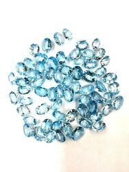 Lovely Natural Sky Blue Topaz 5x7 Mm To 12x16 Mm Oval Faceted Cut Loose Gemstone