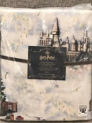 New Pottery Barn Teen Harry Potter Christmas At Hogwarts Percale Queen Sheet Set