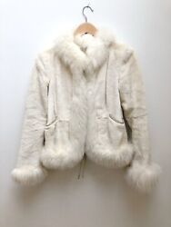 Valentino Couture White Mink And Fox Jacket It40