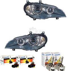 Xenon Headlight Set For Bmw X5 E70 Year 07- D1s +h8 Incl. Philips Lamps Euy