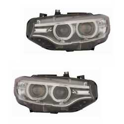 Xenon Headlight Set Left And Right Headlight D1s For Bmw 4 Coupe